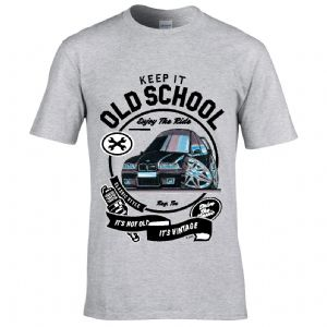 Premium Koolart KEEP IT OLD SCHOOL & BMW 3 Series E36 car image mens t-shirt gift
